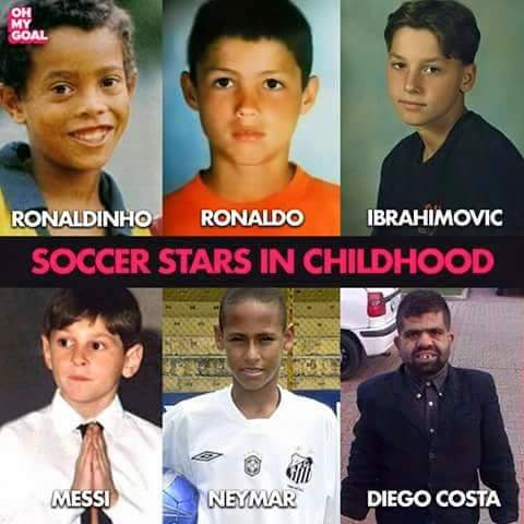 (Photos) Top soccer stars in their childhood..