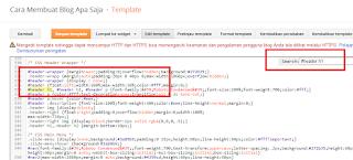 Tutorial Menghilangkan Deskripsi Website dan Judul Blog