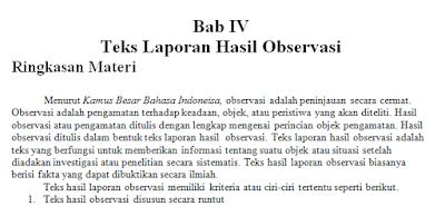 gambar MATERI TEKS laporan hasil observasi