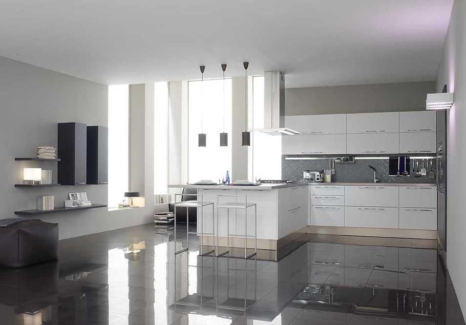 DOMUS ARREDI una cucina tutta Bianca  laccato opaco laccato lucido o materico Sempre