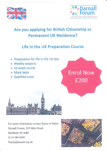 Poster advertising our new citizenship courses