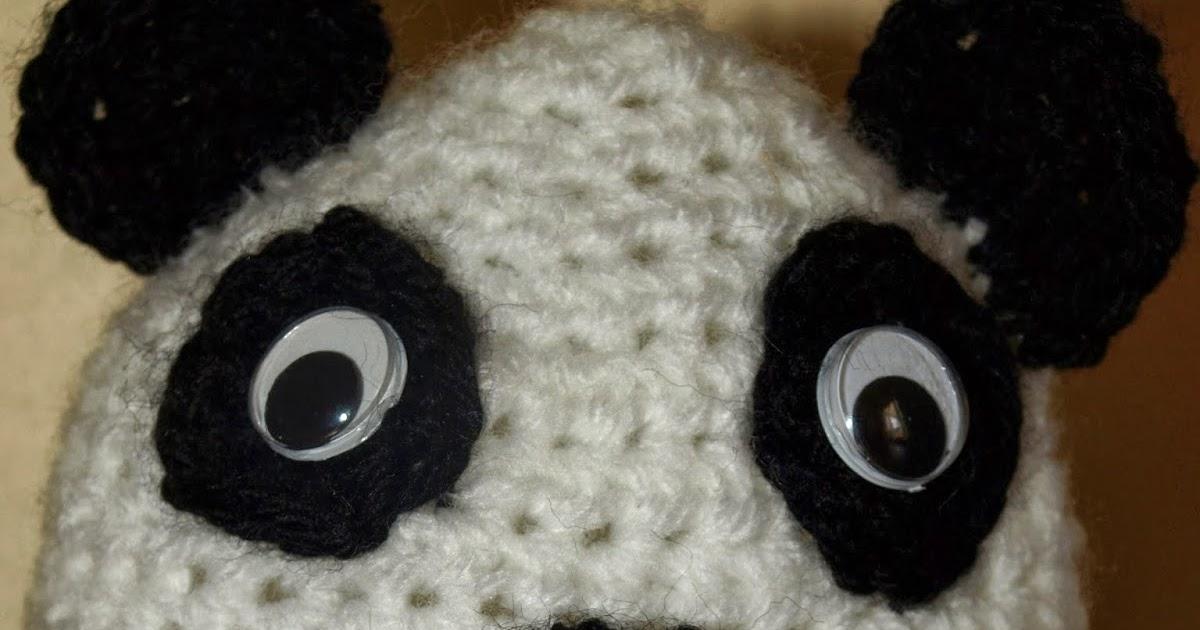 Panda Baby Beanie Hat Free Crochet Pattern