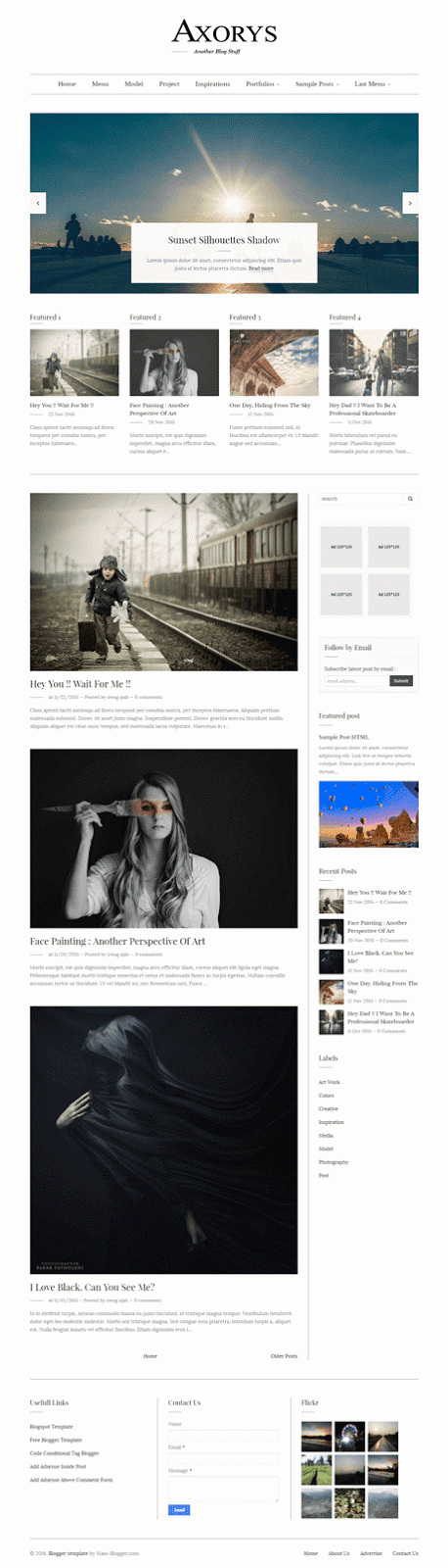 personal responsive blogger template