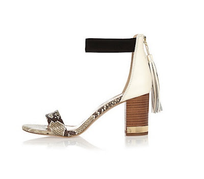 river island low block heel with tassel