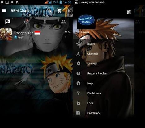 MOD BBM v2.12.0.9 Clone - Naruto