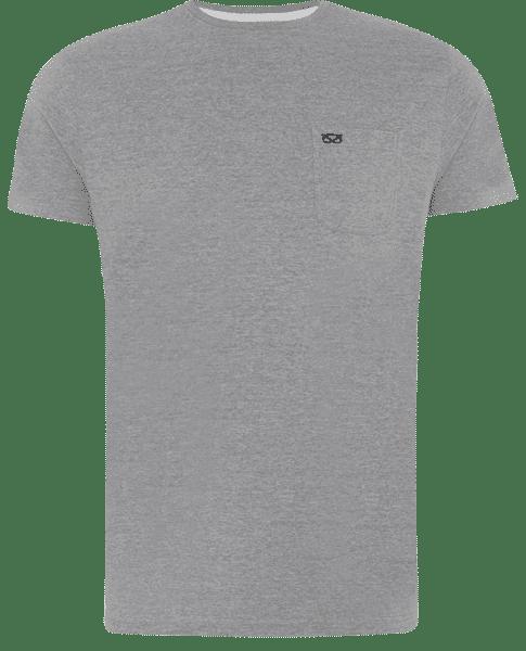Camiseta gris de manga corta con logo de Farrell