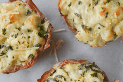 KETO THREE CHEESE CAULIFLOWER MAC AND CHEESE CUPS