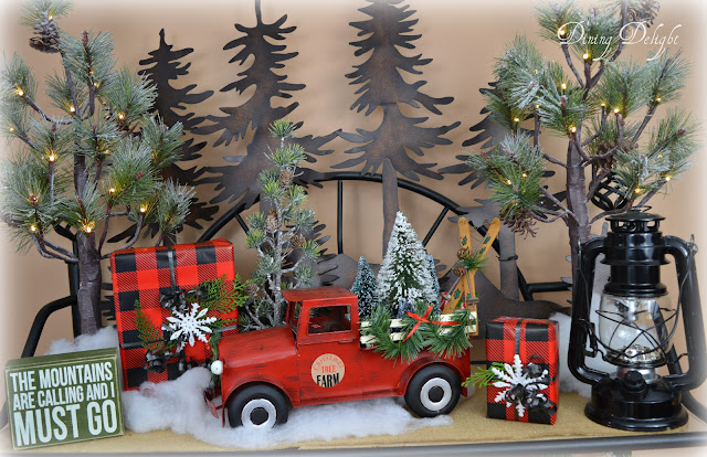 Dining Delight Red Truck Christmas Etagere