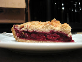 Couldn't resist this shot of the sour cherry pie.