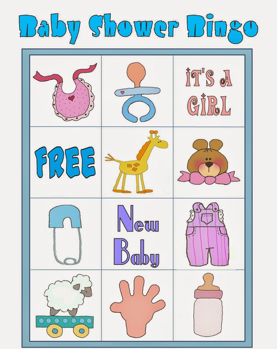 Juegos De Baby Shower Bingo