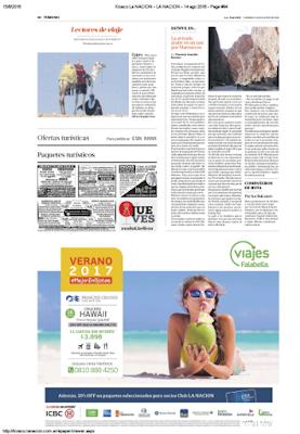 Diario La Nación 14 de agosto, 2016 - Florencia Gonzalez Bazzano