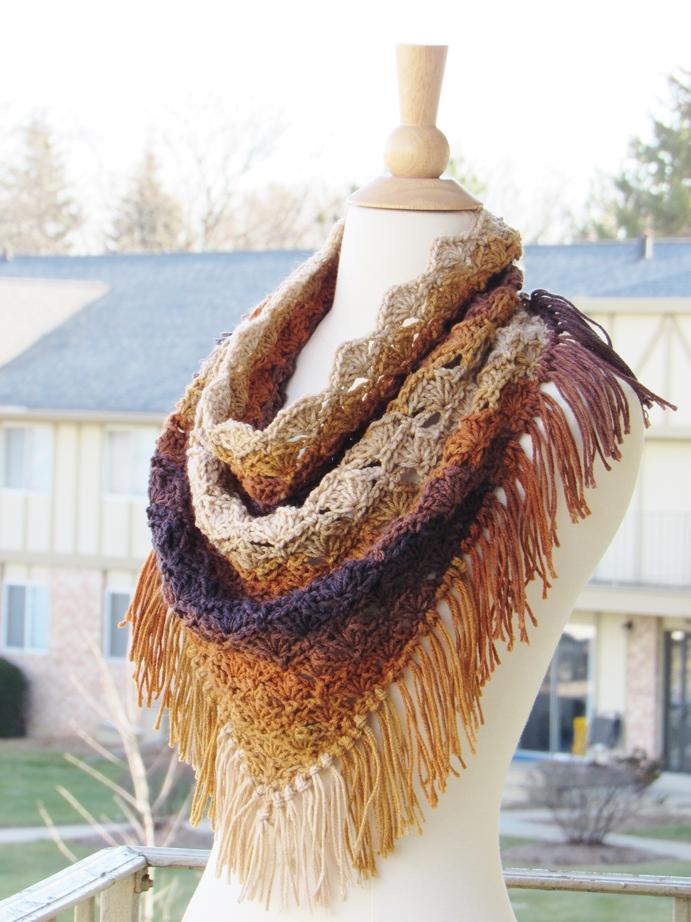 Crochet Cowl Pattern Celestia Triangle Cowl Crochet Dreamz