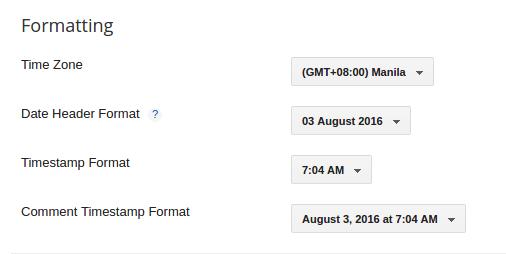 Blogger Date Header Format