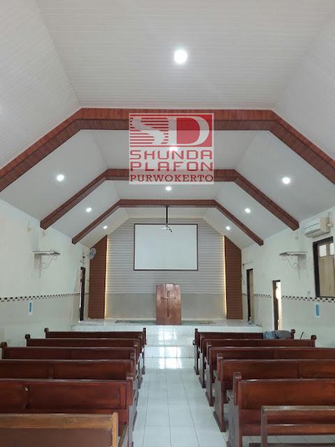 Pemasangan Shunda Plafon Gereja Adven Purwokerto - Shunda Plafon Purwokerto