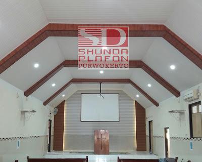 Pemasangan Shunda Plafon di Gereja Adven Purwokerto