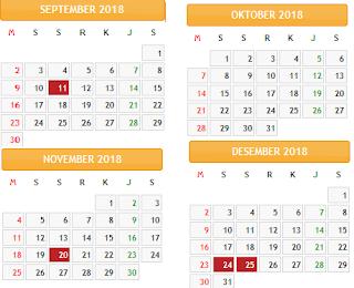 kalender 2018 indonesia lengkap dengan hari libur nasional