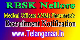 RBSK Nellore Recruitment Notification 2016 - 136 Medical Officers ANM Pharmacist Posts Apply