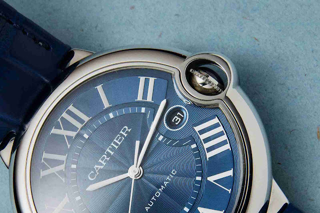 Swiss Replica Cartier Ballon Bleu De Cartier Automatic Blue Guilloche Dial Stainless Steel 42mm CRWSBB0025 Watch Review