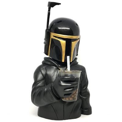Boba Black & Gold Edition Star Wars Resin Figure Bust by Luke Chueh x FLABSLAB