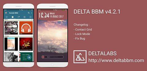 BBM MOD DELTA V4.2.1 APK TERBARU 2017