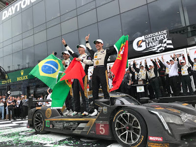 Prototype Winners: Felipe Albuquerque, Joao Barbosa, and Christian Fittipaldi