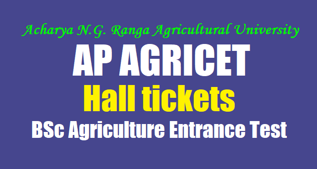 AP AGRICET 2017 hall tickets,ANGRAU AGRICET hall tickets,BSc Agriculture Entrance Test 2017 hall tickets