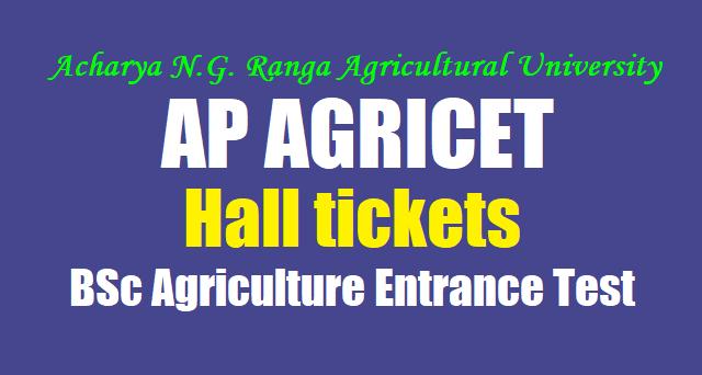 AP AGRICET 2018 hall tickets,ANGRAU AGRICET hall tickets,BSc Agriculture Entrance Test 2018 hall tickets
