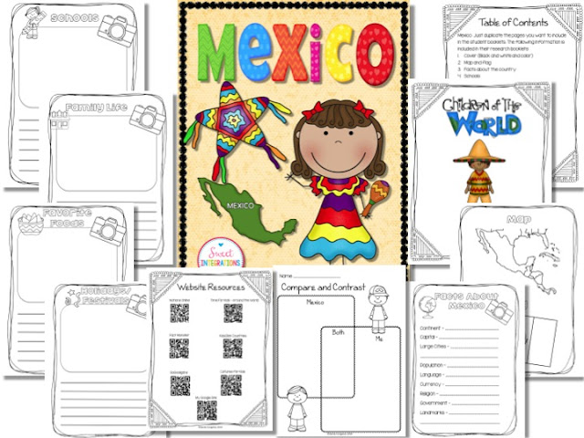 Your students can learn about other cultures and their celebrations. This post is filled with activities about Cinco de Mayo in Mexico. These activities work well with grades 2-5.