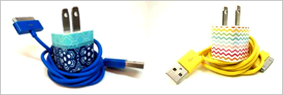 Color iPhone chargers