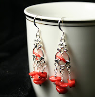 Fire - Valentine's Day (sterling silver, red coral) :: All the Pretty Things