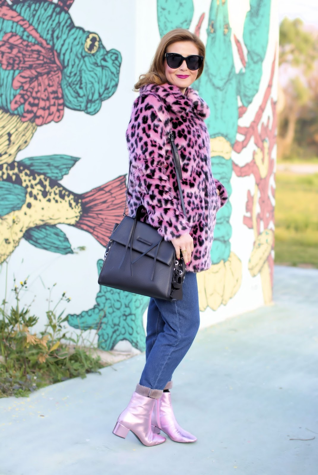 Giacca leopardo rosa su Fashion and Cookies fashion blog, fashion blogger style