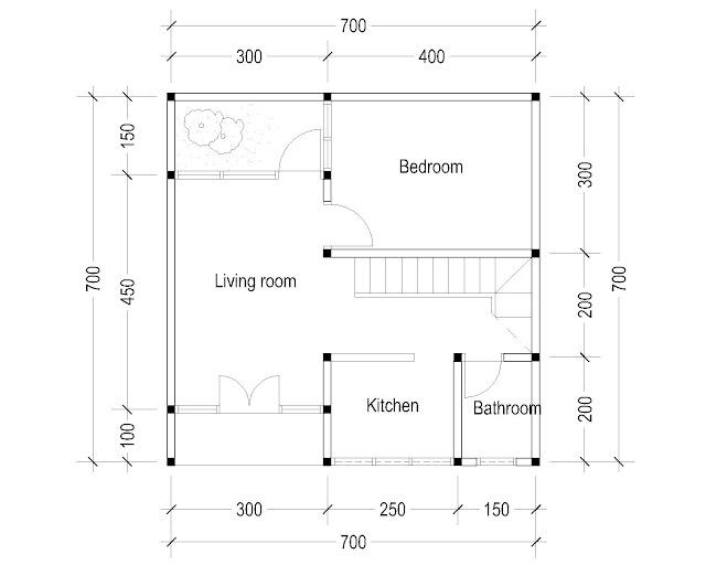 1st Floor Plan for plan c-24
