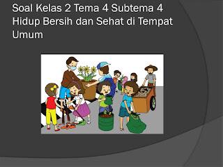 Soal Tematik Kelas 2 Tema 4 Subtema 2 Hidup Bersih dan Sehat