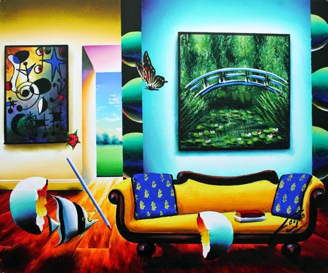 Monet e Miró - Ferjo e suas pinturas ~ O artista da pintura dentro de outra