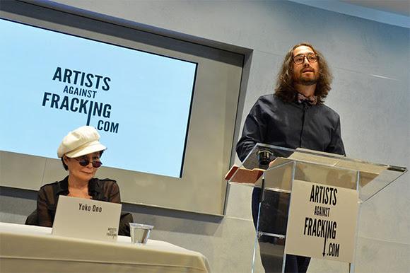 Yoko Ono et Sean Lennon opposés à la fracturation hydraulique