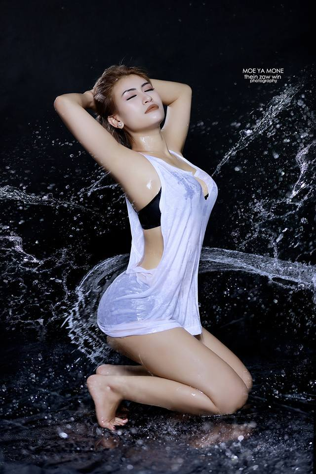 Moe Yamone Shows Off Her Beauty In Splash Photoshoot