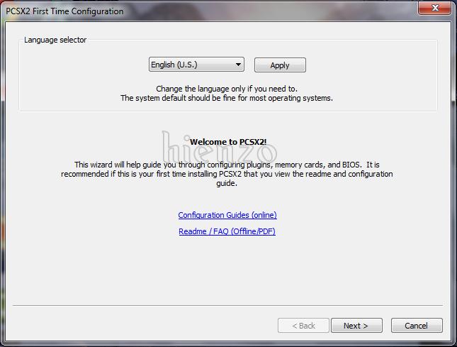 Language Selector PCSX2