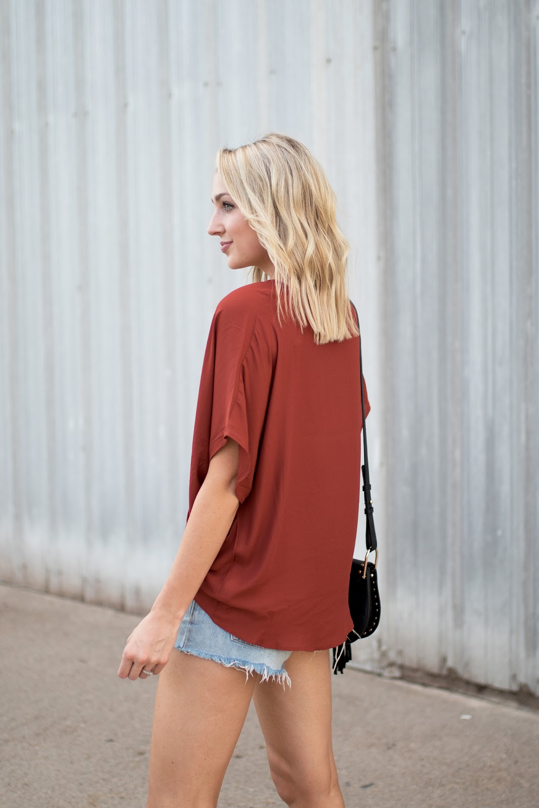 Rust red top
