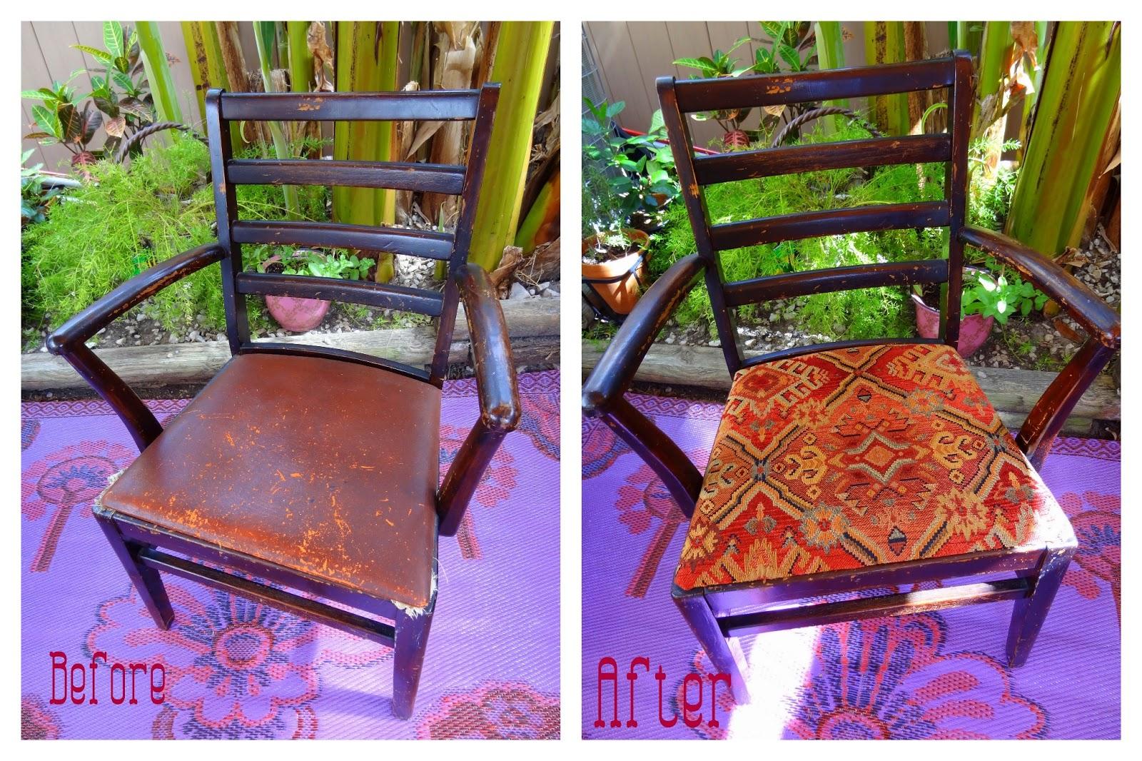 chair seat cover fabric bedroom ottoman gypsy yaya sample re tutorial