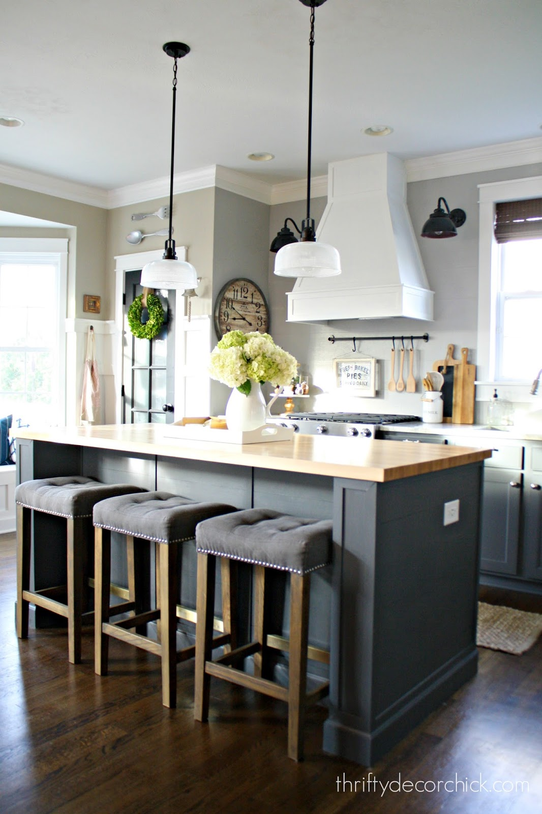 exciting kitchen island ideas decorating diy projects | Kitchen DIYs, Details and Sources! from Thrifty Decor Chick