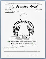 image relating to Guardian Angel Prayer Printable titled Mother or father Angels ~ Printable Site for Small children - Catholic Motivated