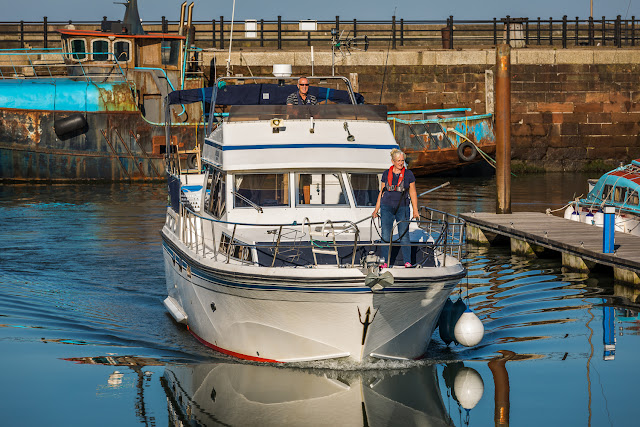Photo of returning to Maryport Marina on Ravensdale on a sunny day in October