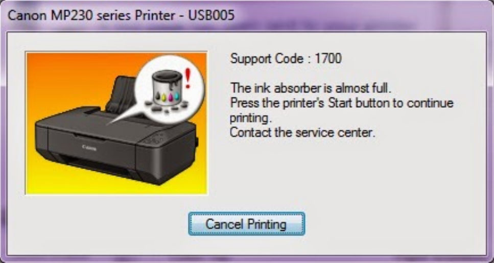 Cara Memperbaiki Printer Canon MP 237 Error 1700