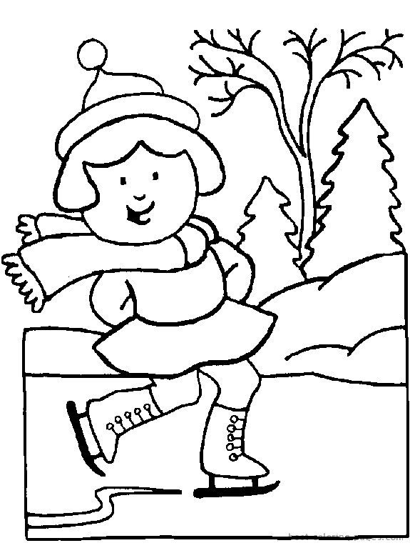 Girl Ice Skater coloring page | Free Printable Coloring Pages | 767x575