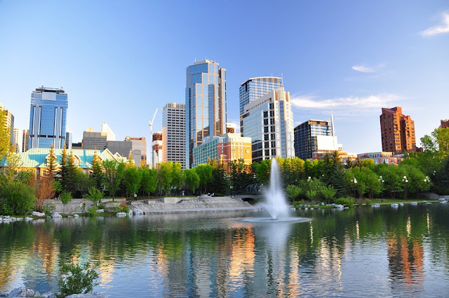 O parque Prince's Island em Calgary