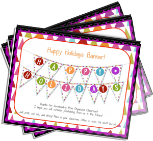 Want your FREE Happy Holidays Banner?