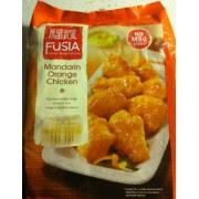 A bag of Fusia Mandarin Orange Chicken Frozen Entree, from Aldi