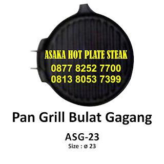 Hot plate ASG - 23,   ASG - 23 pan grill bulat gagang, hotplate bulat, jual hot plate bulat gagang, produksi hotplate bulat gagang