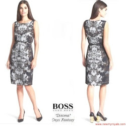 Queen Letizia Style HUGO BOSS Dress and HUGO BOSS Blazer