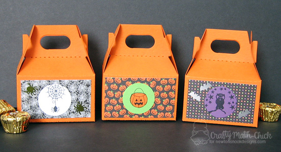 Halloween Treat Holders by Crafty Math-Chick |  Stamp sets by Newton's Nook Designs #newtonsnook